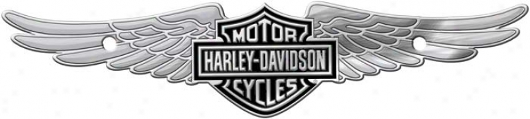 Harley-davldson Bqr & Ward off W/ Wings - Chrome Tag Accessory