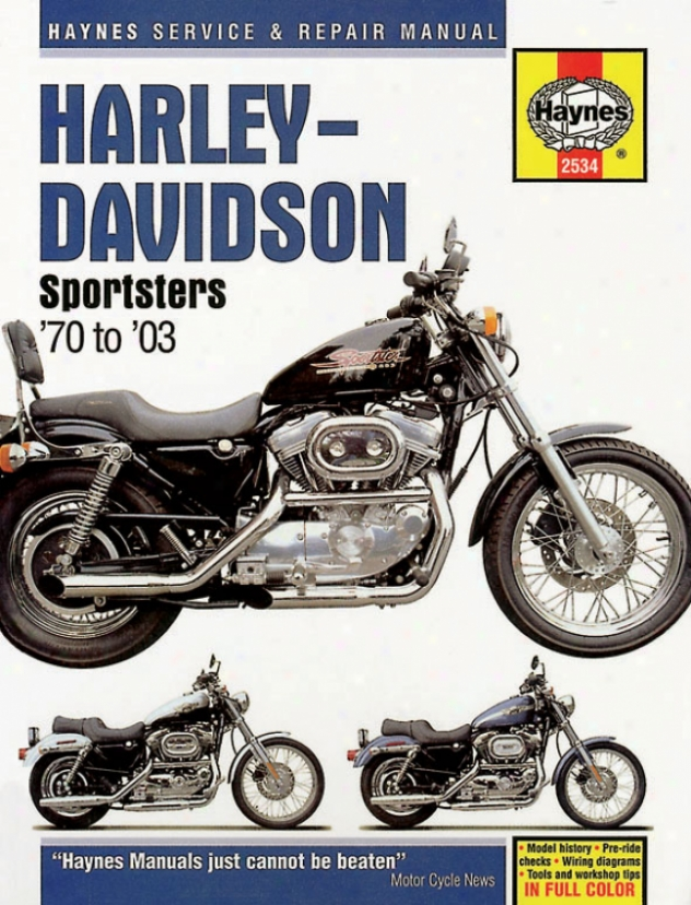 Harley-davidson Sportsters Haynes Redress Manual (1970-2008)