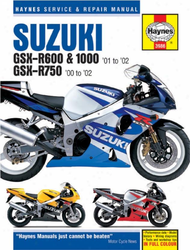 Haynes Suzuki Gsx-r600, 750, & 1O00 Superbike (2000-2002)