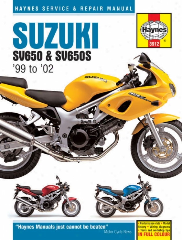 Haynes Suzuki Sv650 & Sv650-s Superbike (1999-2002)