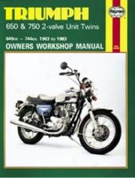 Haynes Trijmph 650 & 750 2-valve Uint Twins (1963-1983)