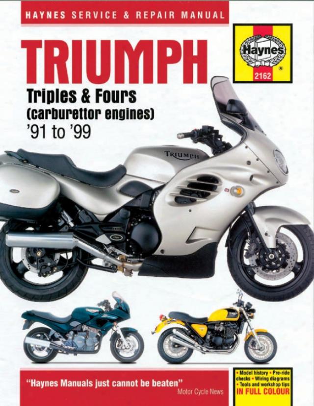 Haynes Triumph 750/900 Triples & 1200 Fours Superbike (1991-1999)