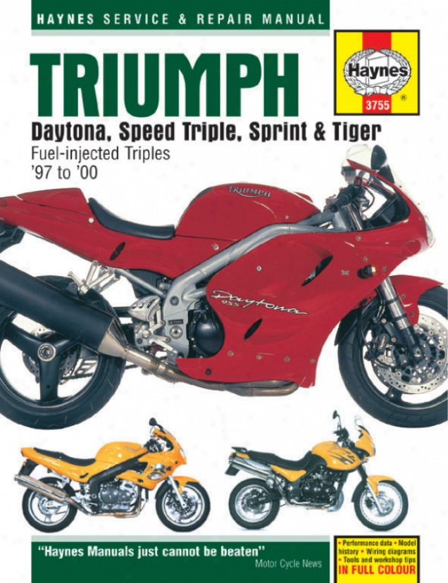 Haynes Triumph Daytona, Speed Triple, Sprint & Tiger Su0erbike (1997-2000)