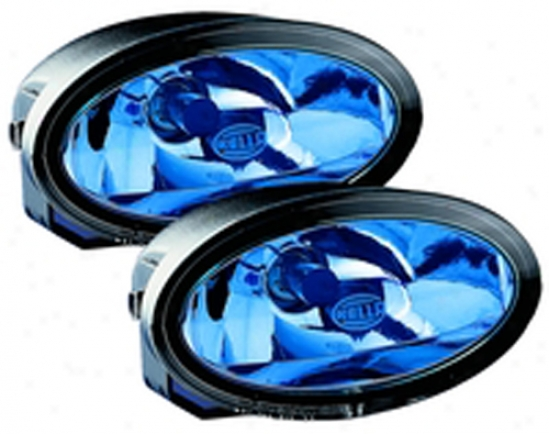 Hells Ff50 Free-form Blue Lens Driving Lamp Kit