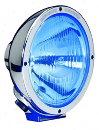 Hella Rallye 4000 Single Chrome Euro Beam With Blue Lens
