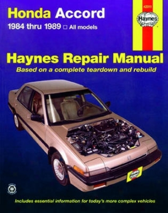 Honda Harmonize Haynes Repair Manual (1984 -1 989)