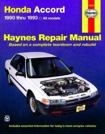 Honda Accord Haynes Repair Manual (1990 - 1993)