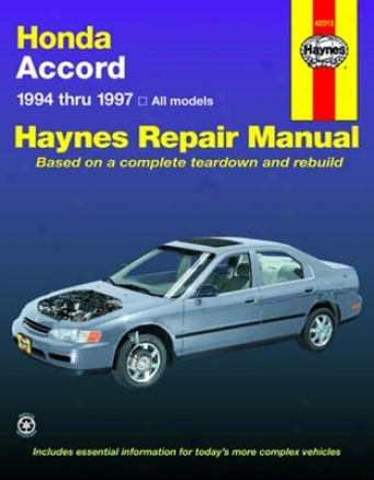 Honda Accordance Haynes Repair Manual (1994-1997)