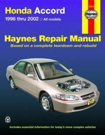 Honda Accord Haynes Repair Manuual (1998-2002)