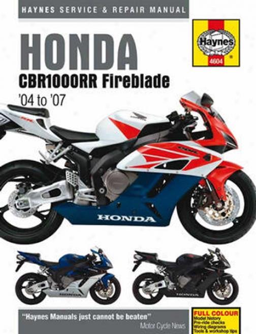 Honda Cbr1000rr Fireblade Haynes Repair Manual (2004 - 2007)