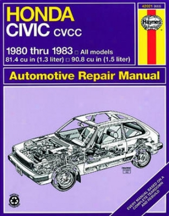 Honda Civic Cvcc Haynes Repair Manual (1980-1983))