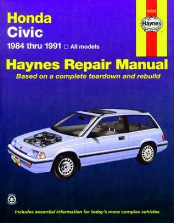 Honda Civic Haynes Repair Mahual (1984-1991)