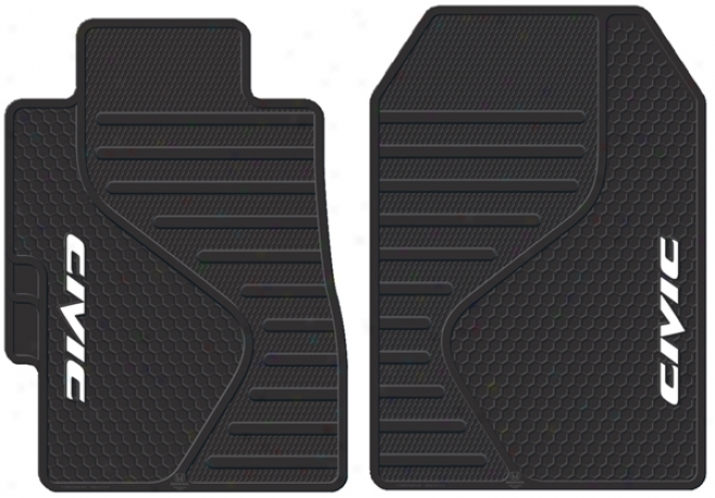 Honda Civic Molded Rubber Floor Mats (pair)