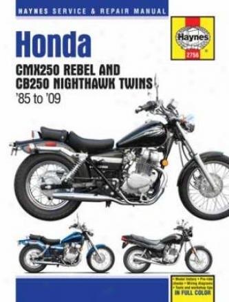 Honda Cmx250 Rebel & Cb250 Nighthawk Tains (1985-2009)