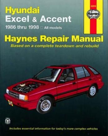 Hyundai Excel & Accent Haynes Repair Manual (1986-1998)