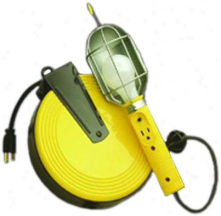 Incandescent Work Light By the side of Retractable Reel (40 Ft. Cord)
