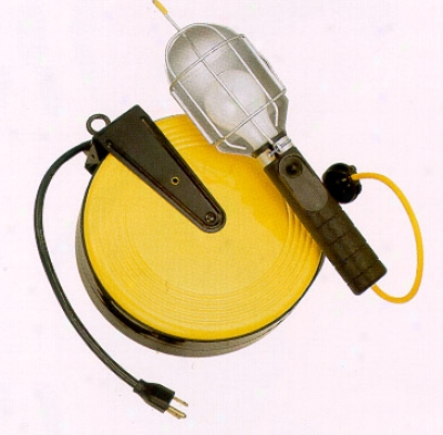 Incandescent Work Light With Retractable Reel (50 Ft. Cord)