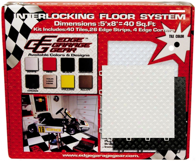 Interlovking Black & White Floor Tiles Kit (40 Bundle)