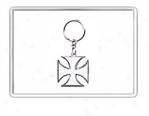 Iron Cross Design Keychain