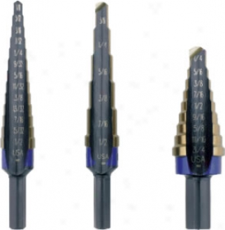 Irwin 3 Pc. Unibit Step Drill Set - Hss
