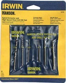 Irwin 6 Pc. Extractor & Hss Drill Bit Set In Vinyl Pouch