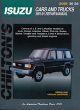 Isuzu Cars And Trudks Chilton Manual (1981 - 1991)