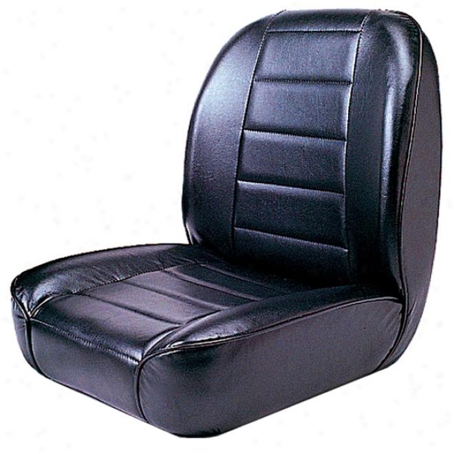 Jeep Cj Black Loq Back Face Bucket Seat