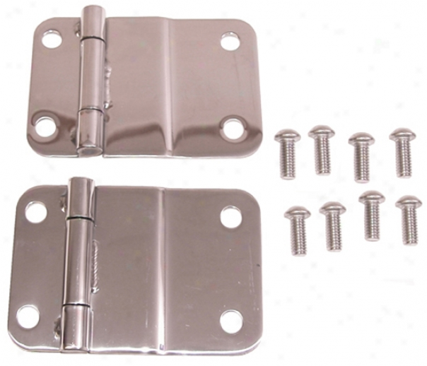 Jeep Cj Polished Stainless Steel Lower Tailgate Hinge