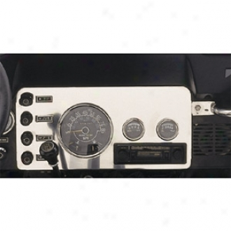 Jeep Cj Stainless Steel Gauge Cover