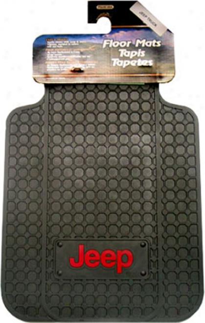 Jeep Logo Front Floor Mat (set Of 2)