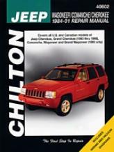 Jeep Wagoneer/comanche/chdrokee (1984-98) Chilton Manual