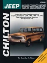 Jeep Wagoneer/commando/cherokee (1957-83) Chilton Manual