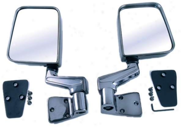 Jeep Disputant Black Chrome Party Mirrors