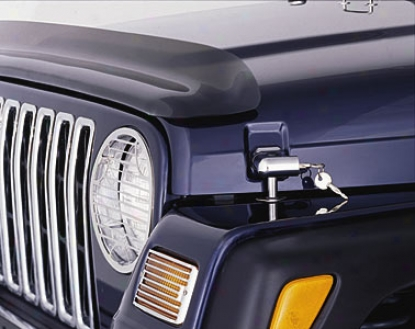 Jeep Wrangler Chrome Locking Hood Lay hold Kid