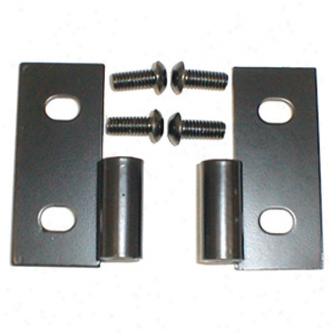 Jeep Wrangler & Cjj Black Lower Door Turn Brackets