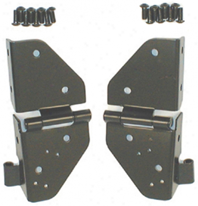 Jeep Wrangler & Cu Black Windshield Hinges