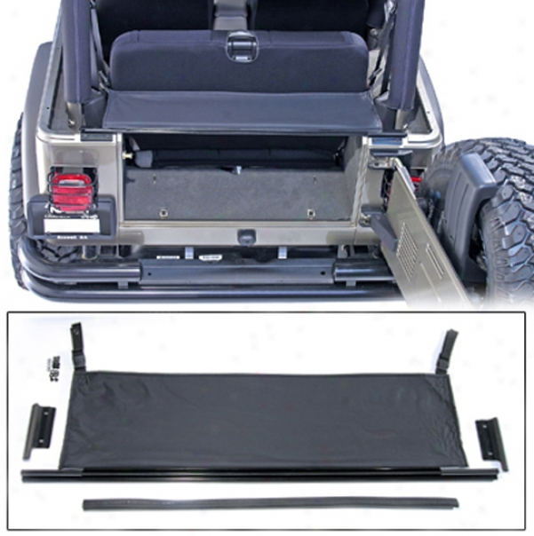 Jeep Wrangler Replacement Tailgate Bar With Black Denim Tonneau