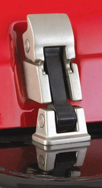 Jeep Wrangler Satin Fiish Stainless Steel Hood Catch Kit