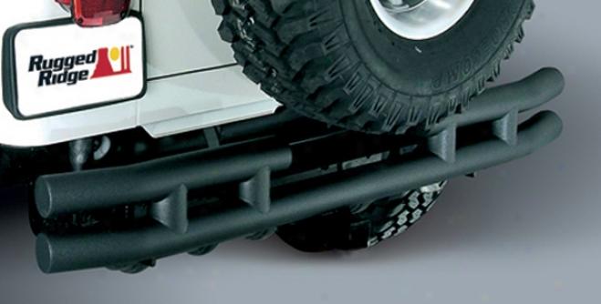 Jeep Wrangler & Unlimited Black Rear Tube Bumper