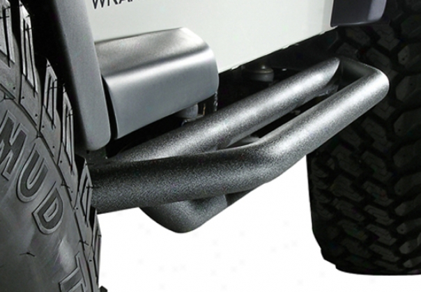 Jeep Wrangler & Unlimited Black Textured Side Armor