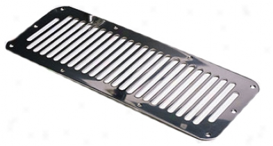 Jeep Wrangler, Unlimiteed & Cj Stainless Steel Hood Vent Cover