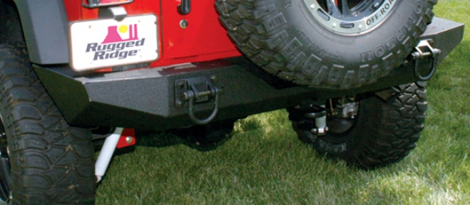 Jeep Disputant Xhd Textured Black Rear Bumper (2007-2009)