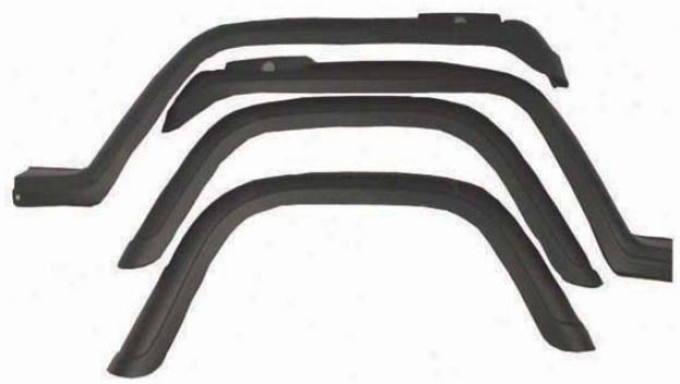 Jeep Wrangler Yj 4-pc Fender Flare Kit