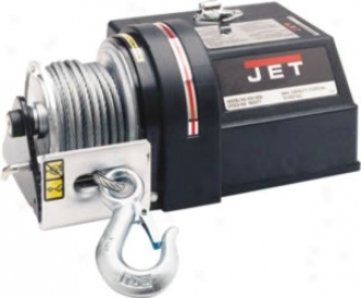 Jet 12v Electric Winch - 7/32'' X 50' Cable-4,000-lb. Ability