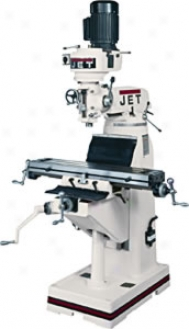 Jet 8'' X 36'' Table-r-8 Taper-1-1/2 Hp-1 Ph-115/230v Verticzl Milling Machine