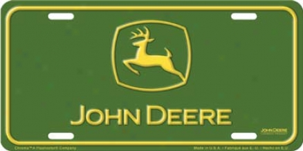 John Deere Auto Tag - License Plate