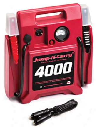 Jump-n-carry? 4000 Battery Booster- 12 Volt, 1100 Amp