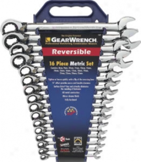 K-d 13pc. Sae Reversible Gearwrench Combination Ratcheting Wrench Set