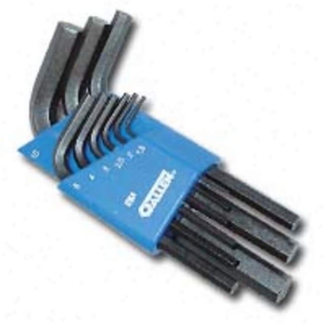 K-d 9 Pc. Metric Short-arm Hex Key Set With Caddy