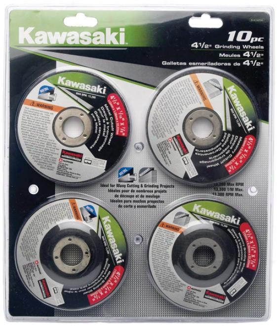 Kawasaki 10 Piece 4?'' Grinding Wheel Set